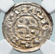 943ad France Archbishopric Normandy Rouen Silver Denier Medieval Ngc Coin I89739