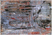 6and039 1 X 9and039 1 Wool And Silk Bridge Design Hand Knotted Rug - Q7192