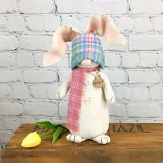Country Primitive Farmhouse Pouncer The Easter Bunny Gnome Doll