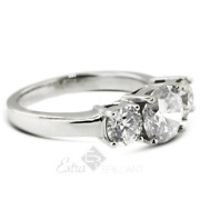 1.25ct E Si1 Round Natural Diamonds 18k White Gold Classic Engagement Ring
