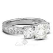 1.20ct D Vs2 Round Natural Diamonds 14kw Gold Vintage Style Engagement Ring