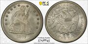 1877 Pcgs And Cac Ms66+ Seated Liberty Silver Quarter