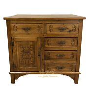 Antique Chinese 5 Drawers Nam Mao Dresser/side Table