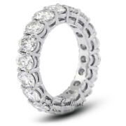 2 1/2ct I Si2 Round Cut Natural Certified Diamonds 18k White Gold Eternity Band