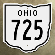 Ohio State Route 725 Highway Marker Road Sign Diecut Map Outline