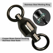 50x Heavy Duty Ball Bearing Swivel Solid Ring Rolling Tackle Connector 10/500lb