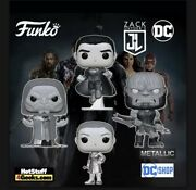 """Zack Snyder's Justice League Funko Pop - 4 Pack Metallic Set """"limited Edition"""""""