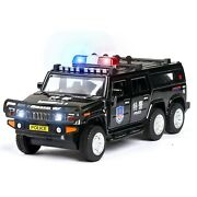 Long Hummer Police Car And Army Vehicle Diecast Model Toy 132 3 Color Big Suv