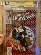 Amazing Spiderman 300 Cgc 8.0 Ss Signed By Todd Mcfarlane