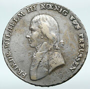 1799 Germany Prussia Kingdom King Wilhelm Iii Antique Silver Thaler Coin I89681