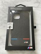 New Bmw M Smooth Carbon Pu Leather Case Fits Iphone 12 / 12 Pro 6.1 Cg Mobile