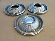 Oem 1969 Chevrolet Impala 14 Hubcap Wheelcover Center Cap Lot 3 Free Shipping