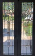 Pair Of Antique Beveled Glass French Doors From Chicago Circa 1915