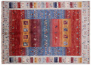 Tribal Gabbeh Hand Knotted Wool Rug 4and039 9 X 6and039 6 - Q7943
