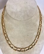 New 14k Yellow Gold Solid Cuban Figaro Necklace Link Chain 8.8mm 35.6gr No Scrap