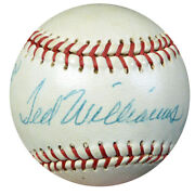 Ted Williams Autographed Baseball Red Sox To Willey Vintage Psa/dna Coa Ac00437