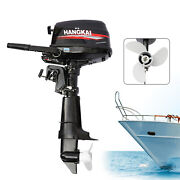 6.5 Hp 4-stroke Outboard Motor Boat Engine W/ Water Cooling Cdi System Hangkai