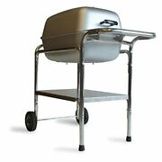 Pk Grills Original Outdoor Charcoal Portable Grill And Smoker Combination, Silver