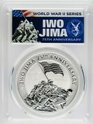 2020-p Pcgs Ms70 Iwo Jima 75th Anniversary First Day Of Issue .9999 Silver Coin