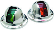 Seachoice 05121 Marine Stainless Steel Bi-color Side Lights Sold As Pair