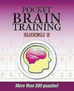Pocket Brain Training Sudoku 2 By Puzzle People Paperback Book The Fast Free