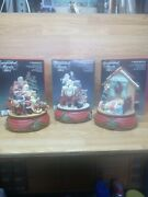Santa's Best Animated Music Boxes. Lot Of 3. Preowned. Made 1992. Free Shipping.