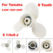 Boat Propeller 9 1/4x9-j For Yamaha Outboard Motor 9.9hp 15hp 20hp F9.9 F15