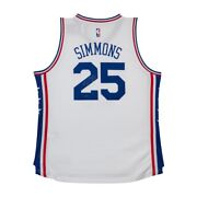 Ben Simmons Signed Autographed Jersey Philadelphia 76ers White Home Jersey Uda
