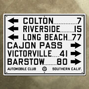 Acsc Highway Sign Colton Victorville Long Beach California Us Route 91 36x27