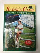 The Saddle Club Super Edition - A Summer Without Horses Mass Market Paperback 94