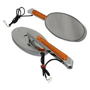 Cipa 01940 Left/right Led Lighted Motorcycle Chrome Mirror Set
