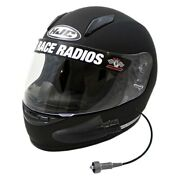 Pci Race Radios 3042 Trax Hjc Cl-y Youth Wired Large Black Forced Air Helmet