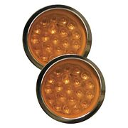Adjure Ns11932-3 Beacon 1 Series Smooth Led Bullet Lights W Amber Lights