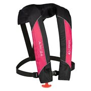 Onyx Outdoor 132000-105-004-14 A/m-24 Pfd Pink/black Inflatable Life Jacket