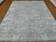 8and039 X 10and039 Rug | Modern Luxury Hand-knotted Wool And Tencel High Low Multi Color