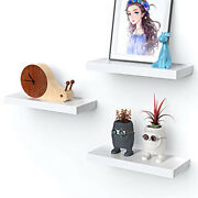 Amada White Floating Shelves Invisible Wall Mounted 3 Sets Perfect For Bedroom