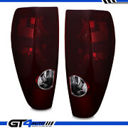 Dark Red Oe Rear Brake Tail Lights Set For 2004-2012 Chevy Colorado/gmc Canyon