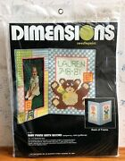 1980 Dimensions Needlepoint Kit Baby Birth Record Picture Frame 13 X 9 Sealed