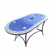Moroccan Mosaic Tile Table - Handmade Zellige Dining Tables - Many Colors
