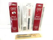 Vtg Cross Pencil Refill Lot Of 3 New Packs Of 12 Leads/3 Erasers 8401 +1 Partial