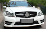Front Bumper Grille And Headlight Lens For Mercedes Benz C Class W204 2007 - 2013