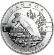 Canada - 2013 .999 Fine Silver 10. Coin - Orca Whale - In Rcm Packaging - Proo