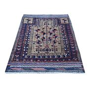 3and039x5and0391 Collectible Antique Farsian Good Cond Pure Wool Hand Made Rug R66462