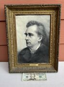 Antique 1892 F.l Barlow Oil Painting Of Actor / Brother Of John / Edwin Booth