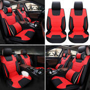Luxury Car 5 Seat Microfiber Leather Seat Cover Suv Front Rear Cushion + ❤