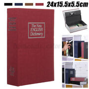 Home Security Dictionary Book Safe Storage Password Lock Box For Cash Jewelry