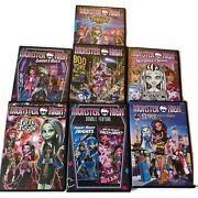 Monster High Dvd Lot Boo York 13 Wishes New Ghoul At School Scaris City Frights