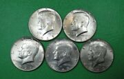 Five Different Date 40 Silver Kennedy Half Dollars Nice Collection