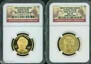 2009-w 10 Gold Spouse Letitia Tyler Ngc Pr70 Pf70 And Ms70 2-coins Set