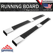 78 Long Chrome Mega Running Boards Fit 2015-2021 Chevy Colorado Crew Cab 5 Pad